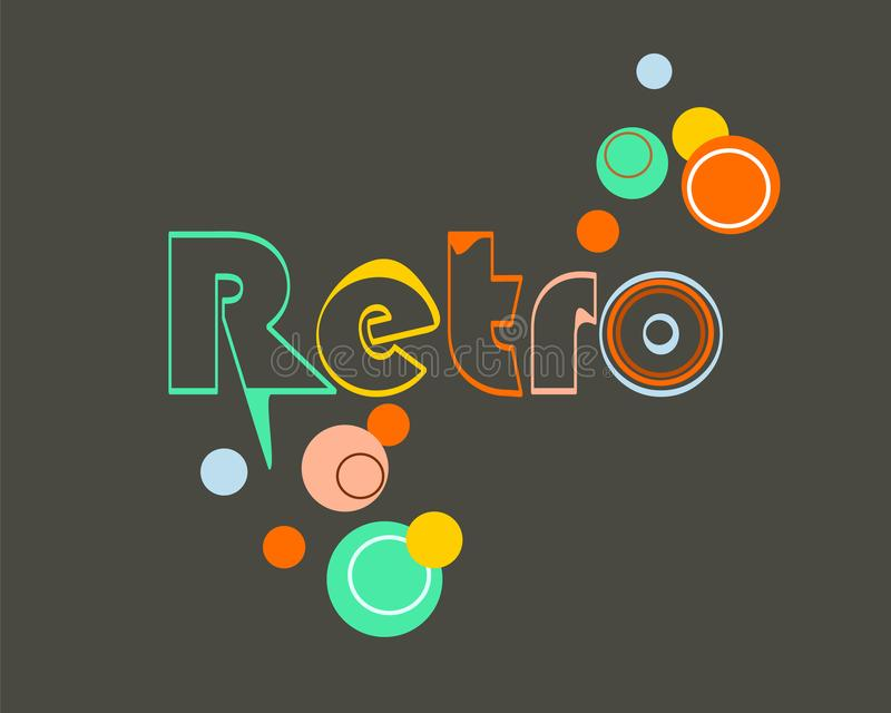 Retro style! The good old days! Retro design background. Seamless vintage backdrop. The good old days! Vector retro design background. Seamless vintage backdrop royalty free illustration