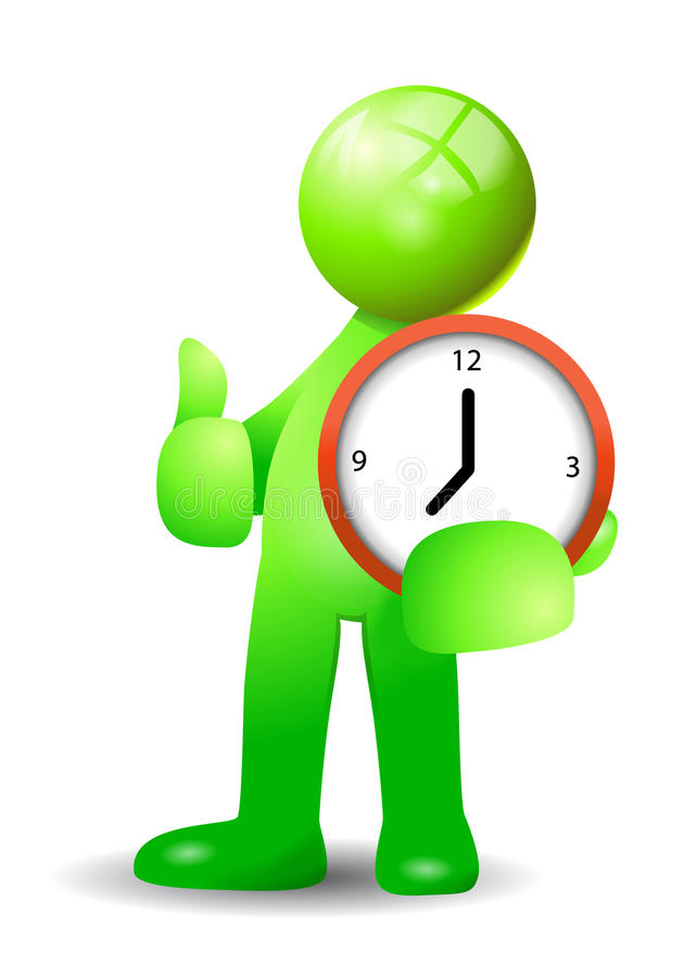Good punctual time royalty free stock photos