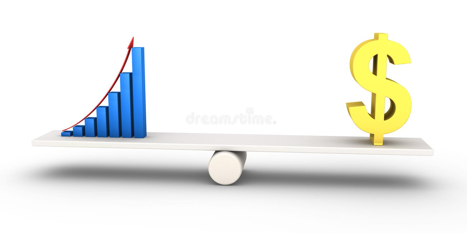 Good Results Graph Equals With Dollar Symbol Stock Illustration