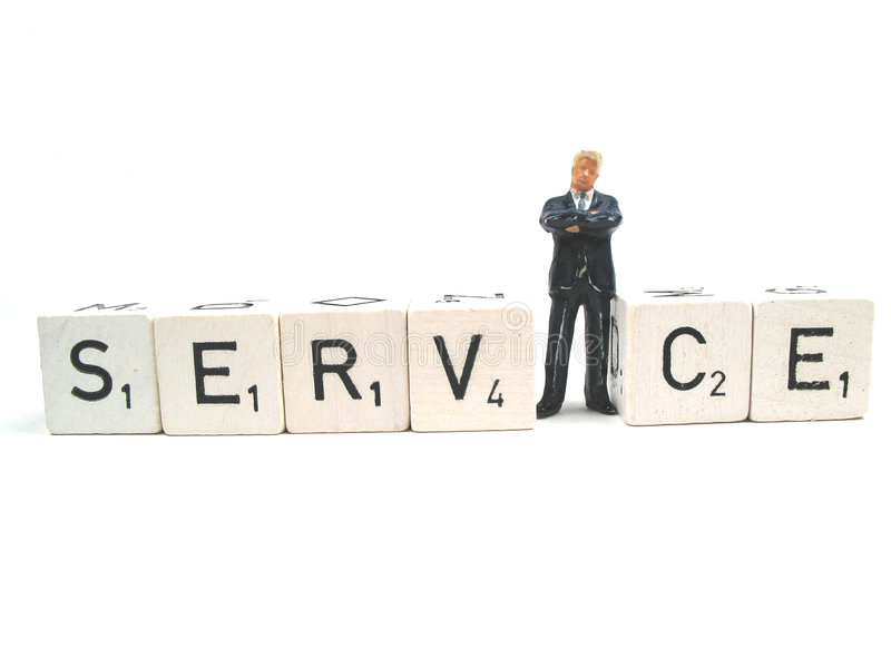 Good service royalty free stock photo