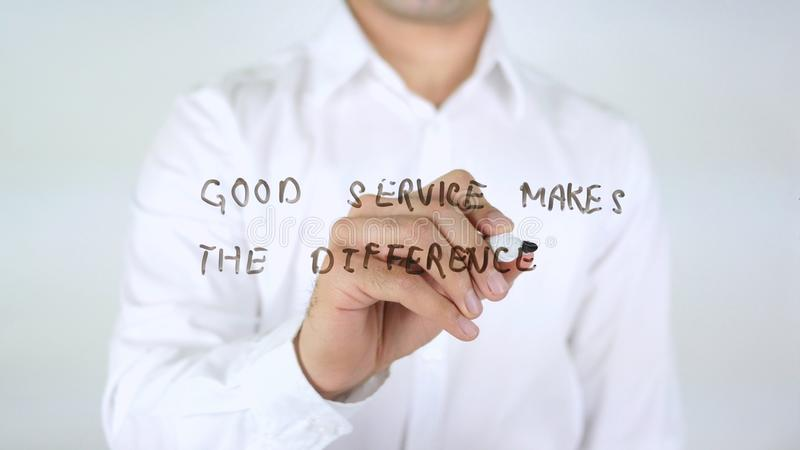 Good Service Makes the Difference, Writing on Glass stock images