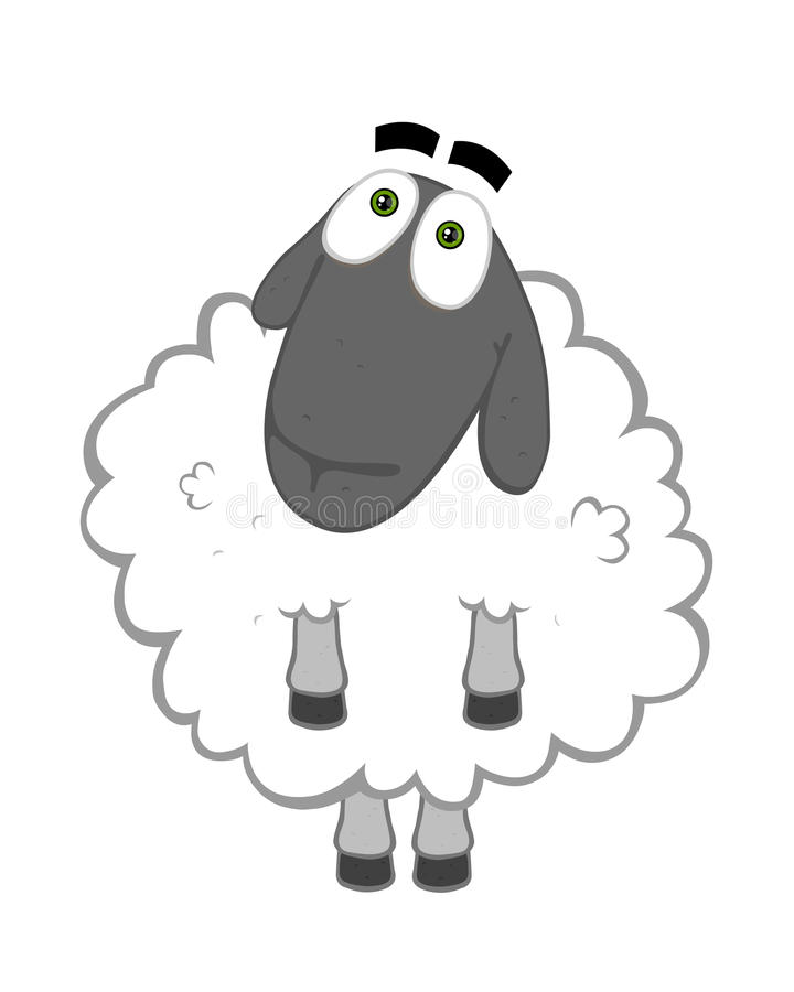 Good sheep royalty free illustration