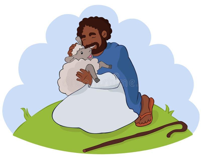 The Good Shepherd royalty free illustration