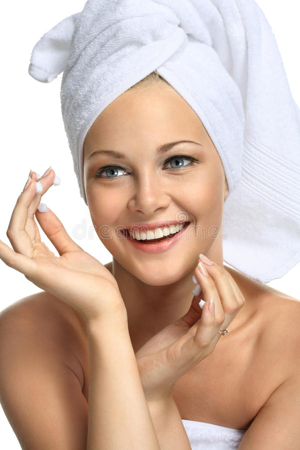 Download Good skin after bathing stock image. Image of facial - 15423929