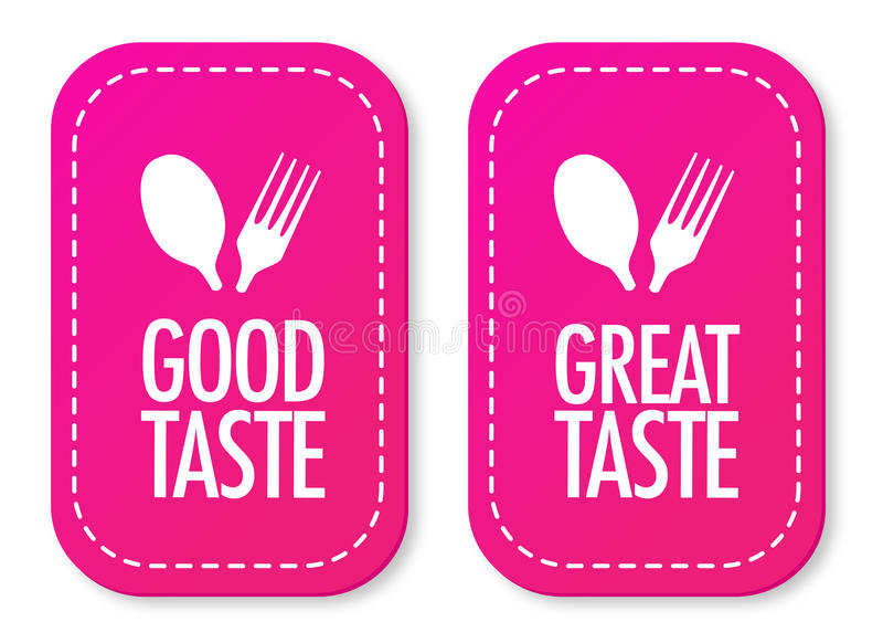 Download Good Taste And Great Taste Stickers Stock Vector - Image: 21079142
