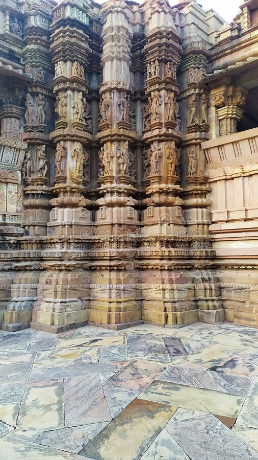 Good temple of Khajuraho Madhya Pradesh India by royalty free stock photos