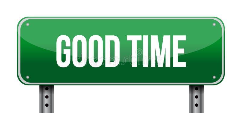 good time street sign concept illustration design stock illustration