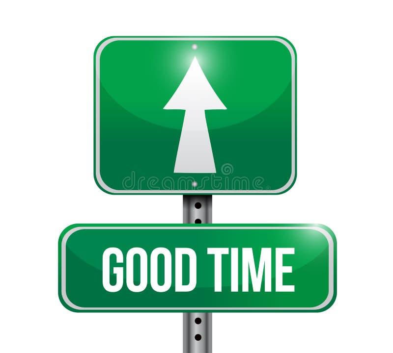 good time street sign concept illustration design royalty free illustration