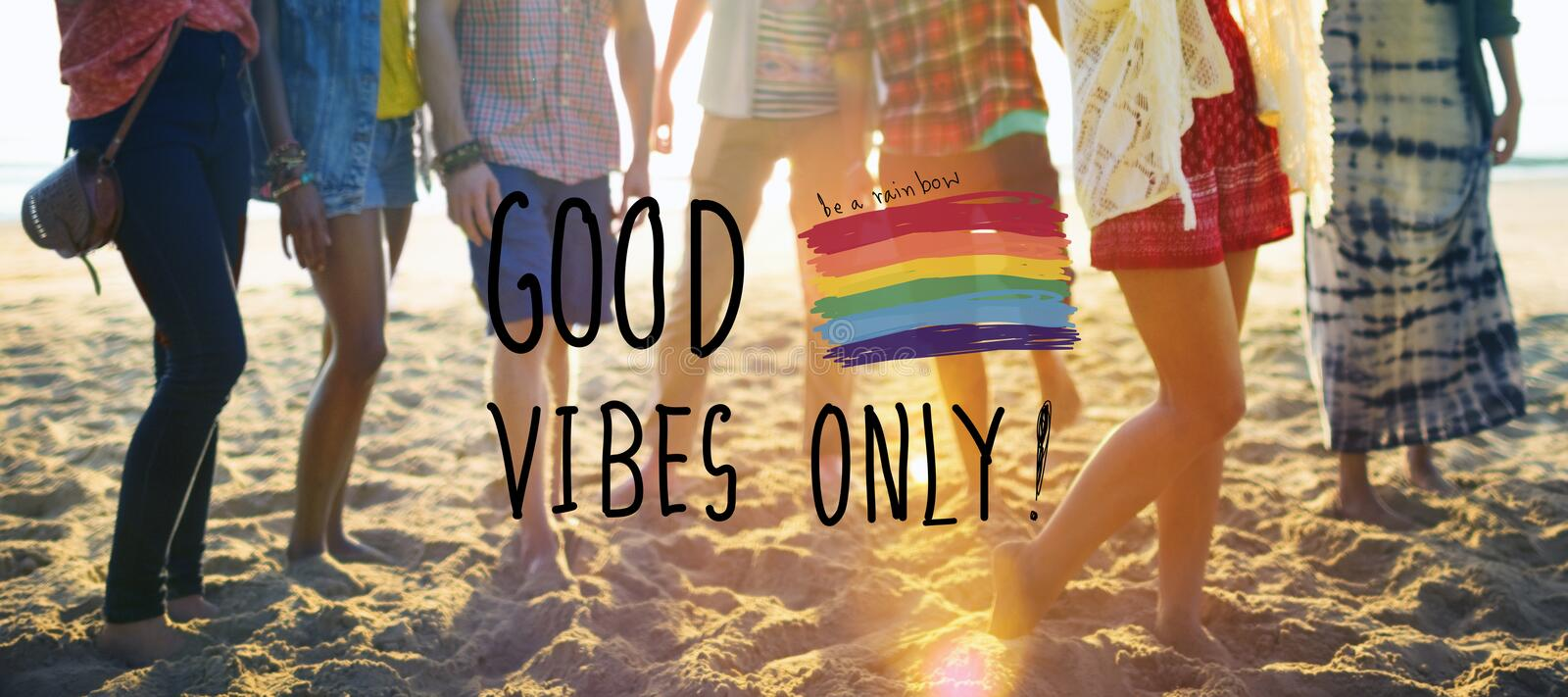 Good Vibes Only Inspirational Life Motivate Concept stock photography