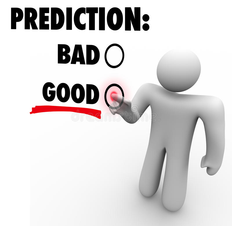 Download Good Vs Bad Prediction Words Choose Future Expectation Stock Illustration - Illustration: 37367167