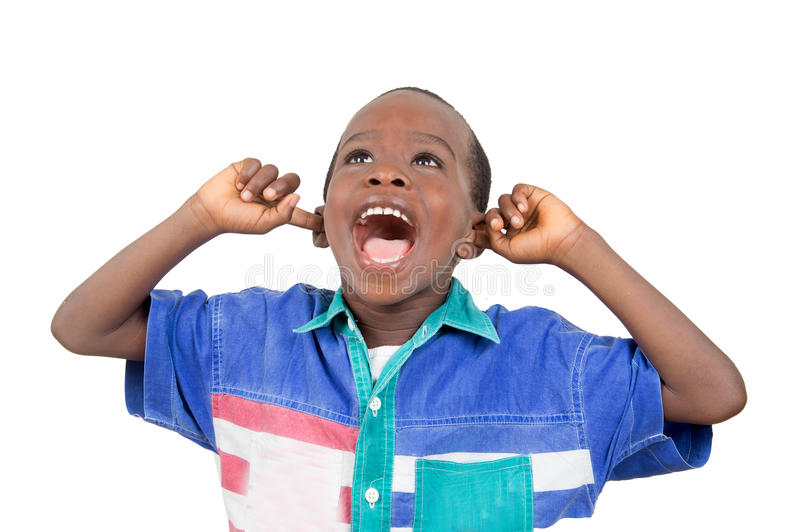 Good way to scream loudly. royalty free stock image