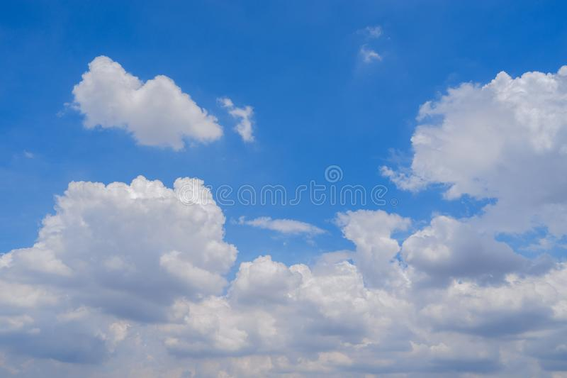 Good weather day. Clouds in sky on a good weather day stock photos