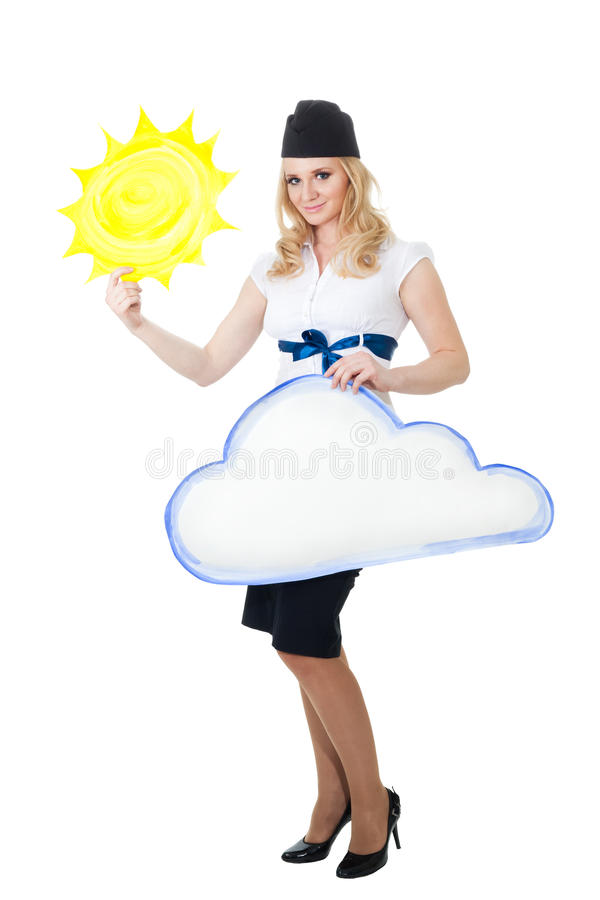 Download Good weather forecast stock image. Image of female, portrait - 13777217