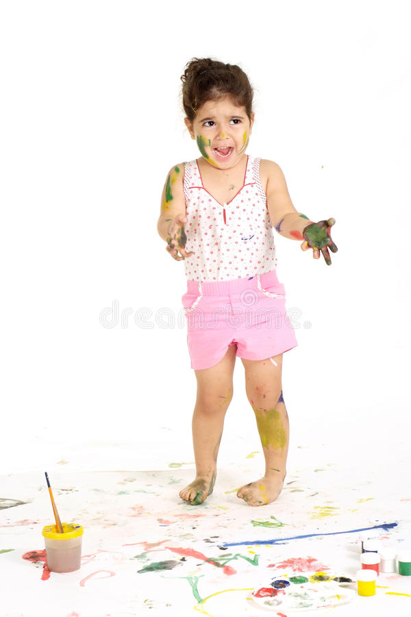 Good young girl royalty free stock image
