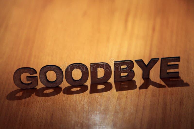 goodbye royaltyfri bild