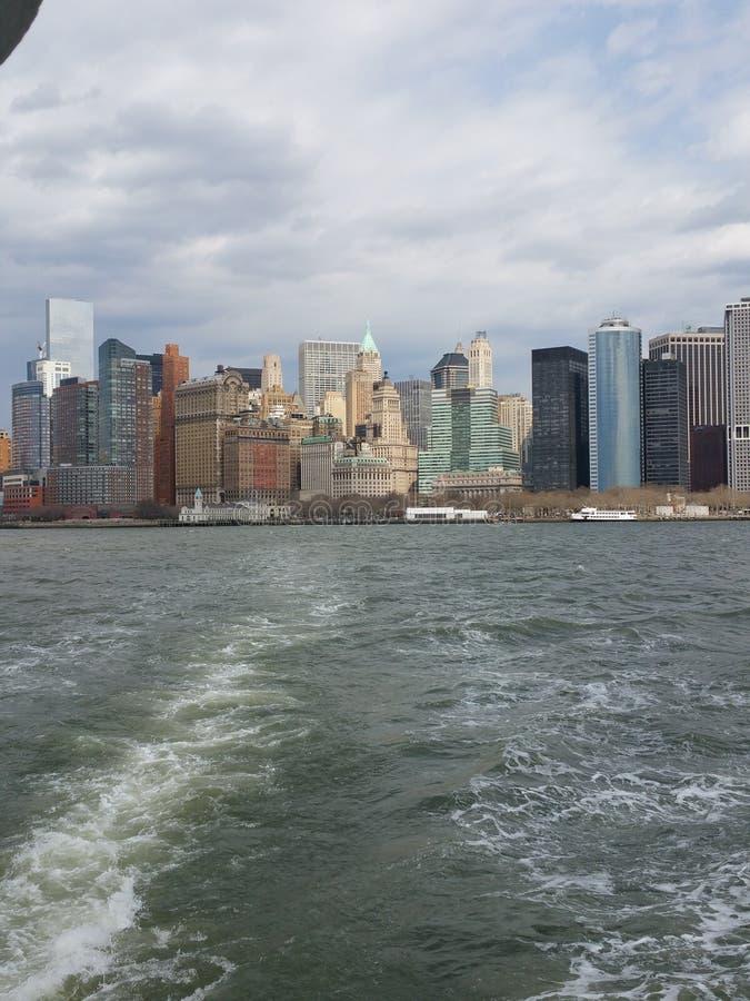 Goodbye New York stock photo