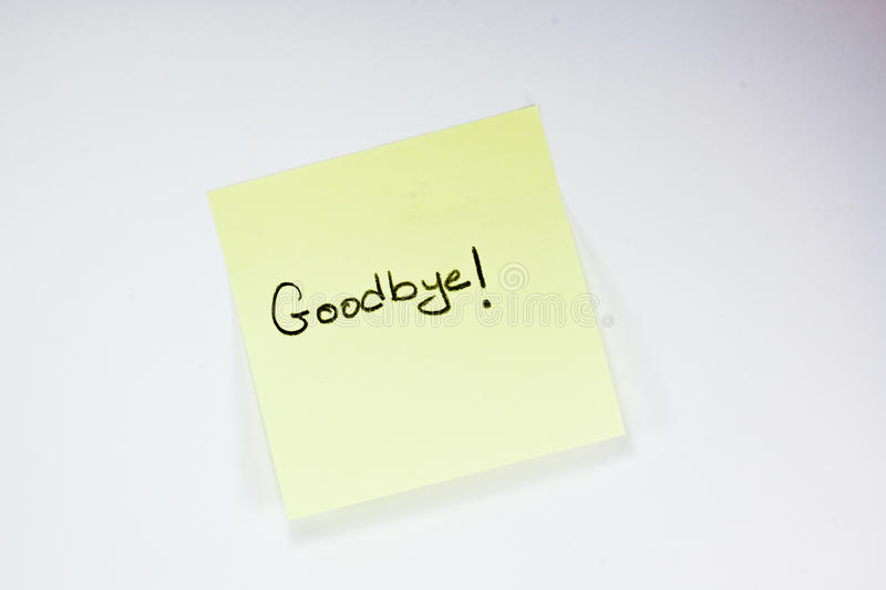 Goodbye Note Stock Photo Image Of Paper Writing Object