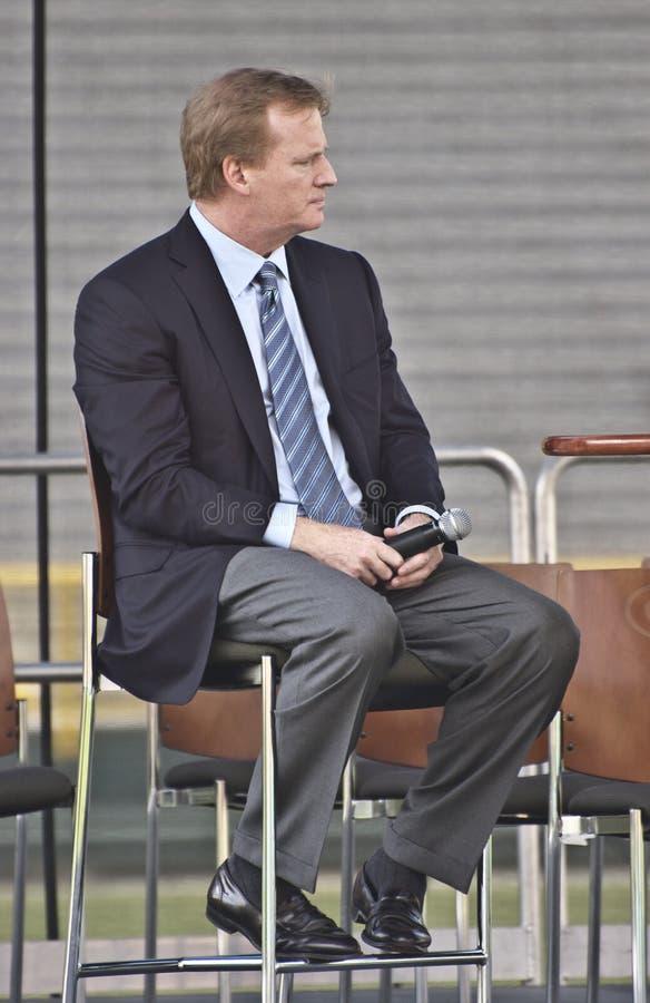 goodell nfl roger för ceo-commissionerfotboll royaltyfria bilder