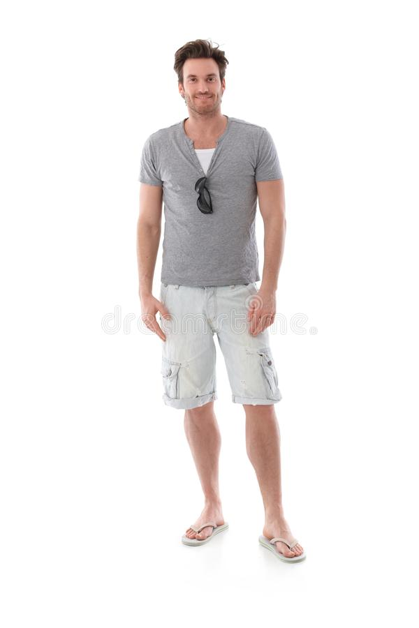Goodlooking man at summertime. Goodlooking young man dressed for summer stock images