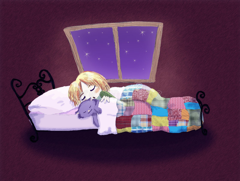 Download Goodnight stock illustration. Image of kitty, patchwork - 9058987