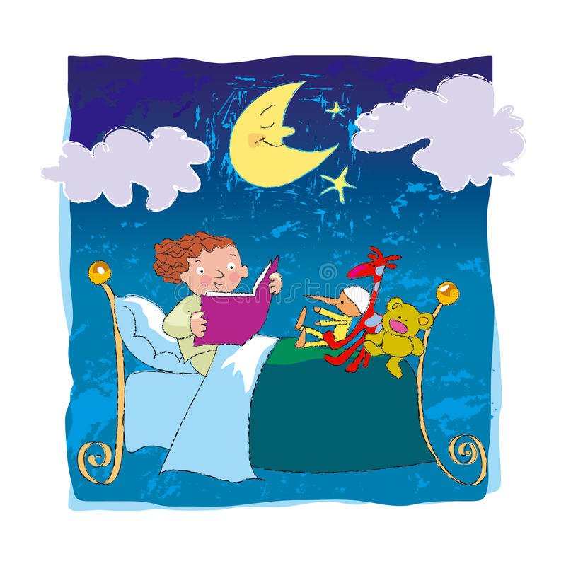 Download Goodnight friends stock illustration. Image of bright - 14061643
