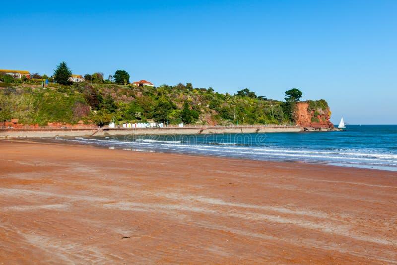 Goodrington зашкурит пляж Девон стоковые изображения