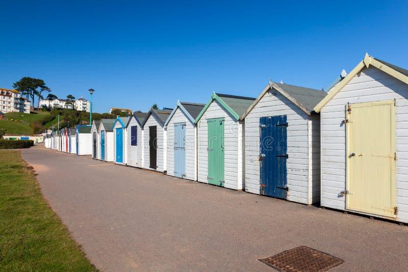 Goodrington зашкурит хаты пляжа стоковая фотография