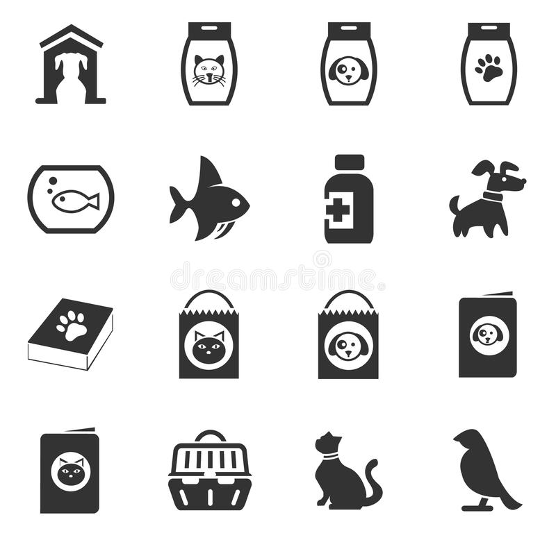 Goods for pets icons set. Goods for pets icon set for web sites and user interface royalty free illustration