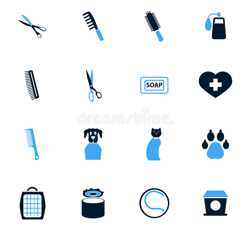 Goods for pets icons set. Goods for pets icon set for web sites and user interface vector illustration