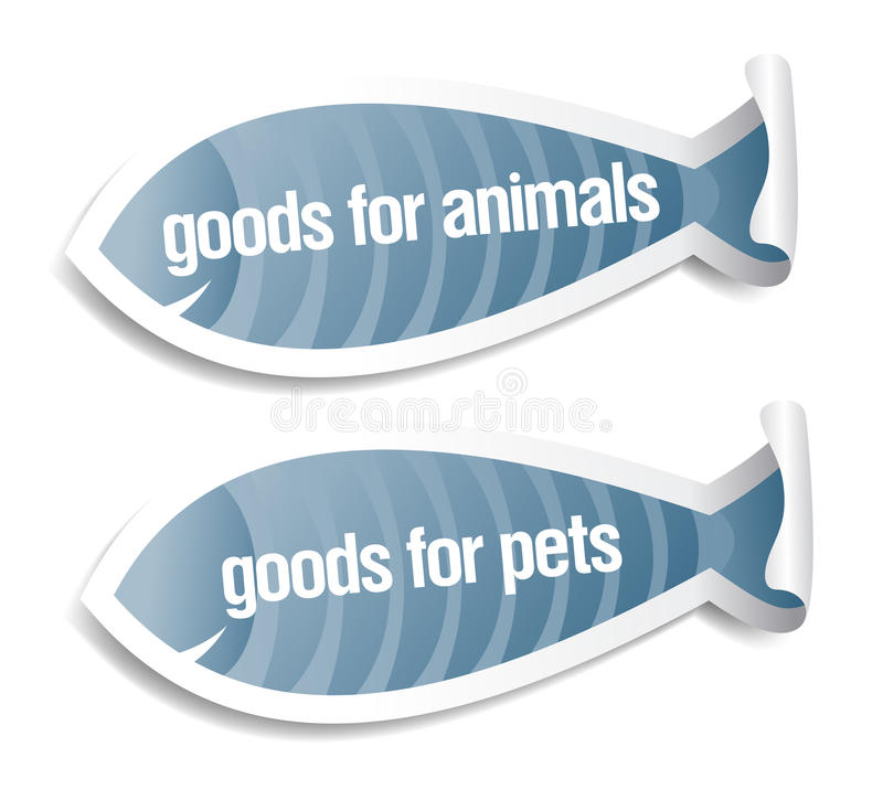 Goods for pets stickers royalty free illustration