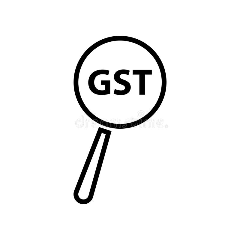 Goods and Service Tax acronym GST, vector illustration stock illustration