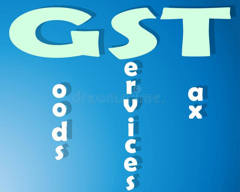 Goods Services Tax royalty free illustration