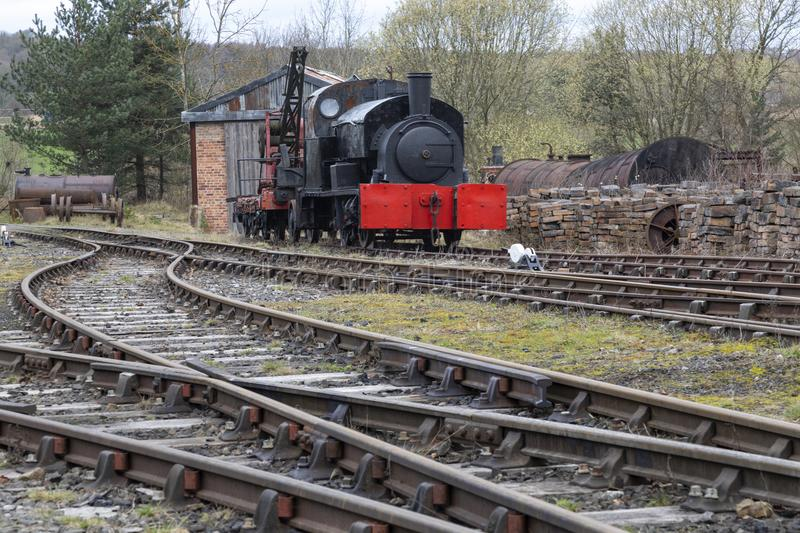 Goods shunting yard - Beamish Museum. In the northeast of England stock photos