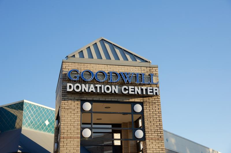 Goodwill Donation Center Store Sign stock photos