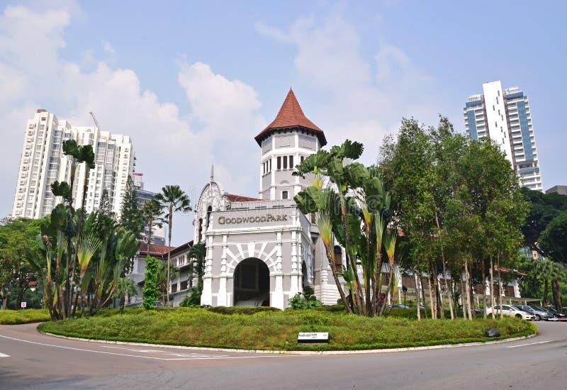 Goodwood parkerar hotellet är ett populärt arvhotell i den Singapore staden royaltyfria bilder