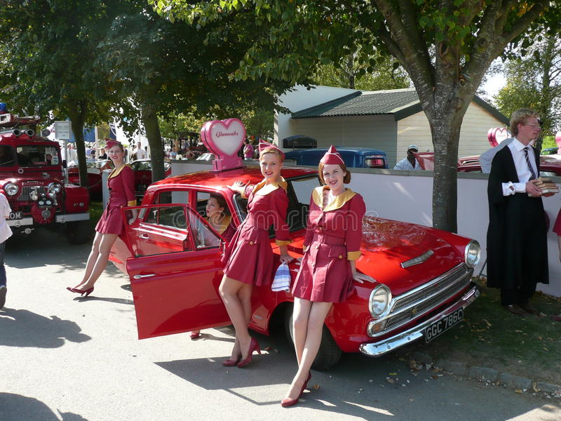 Goodwood Revival and The Glamcabs royalty free stock photo