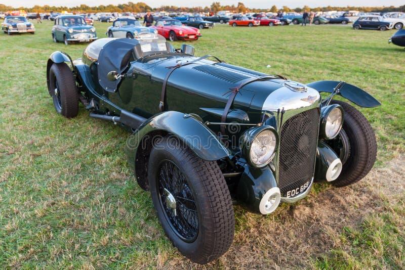 GOODWOOD, SUSSEX/UK OCCIDENTAL - 14 SEPTEMBRE : Le vintage Bentley s'est garé image libre de droits