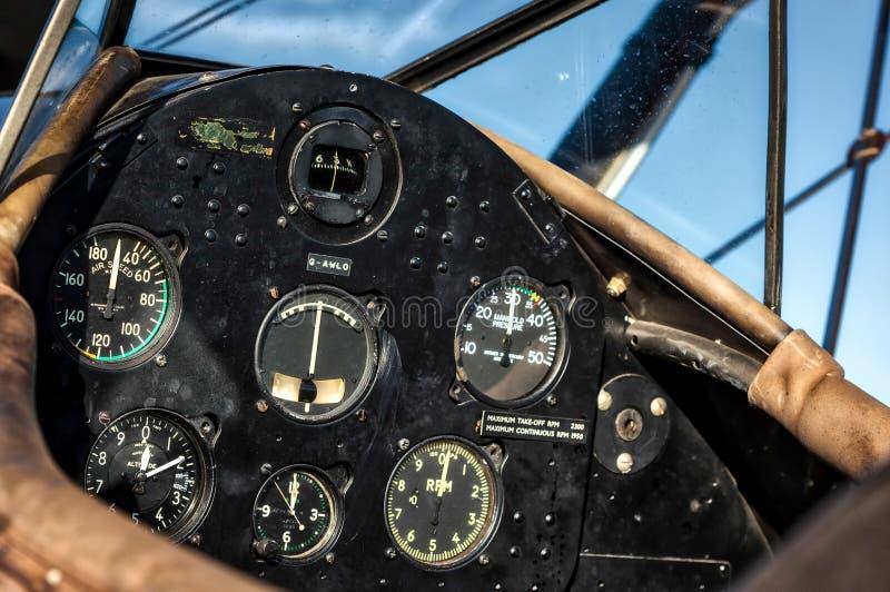 GOODWOOD VÄSTRA SUSSEX/UK - SEPTEMBER 14: Cockpit av en Boei 1942 arkivbilder
