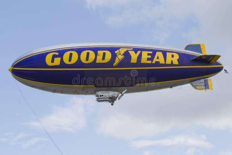 GoodYear litet luftskepp fotografering för bildbyråer