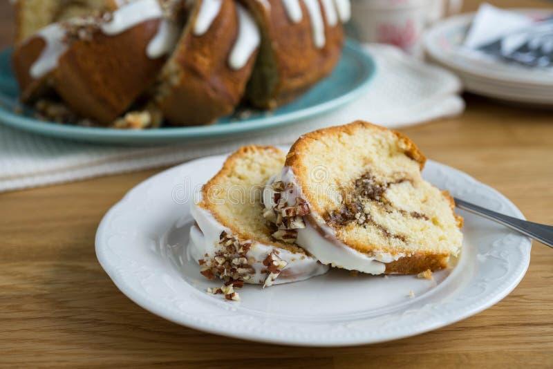 Gooey торт кофе стоковые фотографии rf