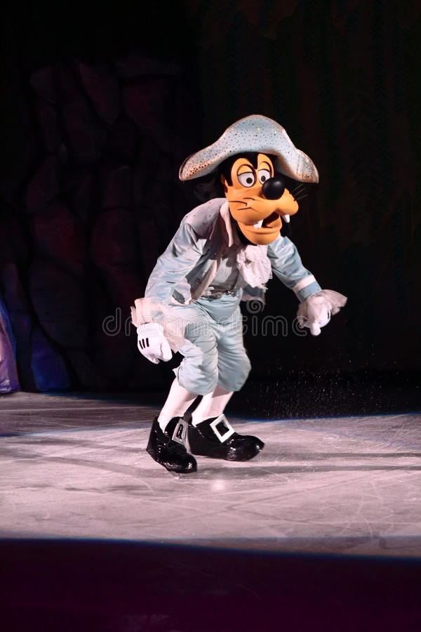 Goofy. Philippines - December 26, 2012. Goofy in Disney On Ice: Princesses & Heroes at Smart Araneta, Cubao Quezon City royalty free stock photo