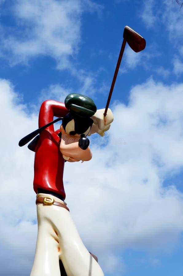 Disney Goofy golfer stock photo