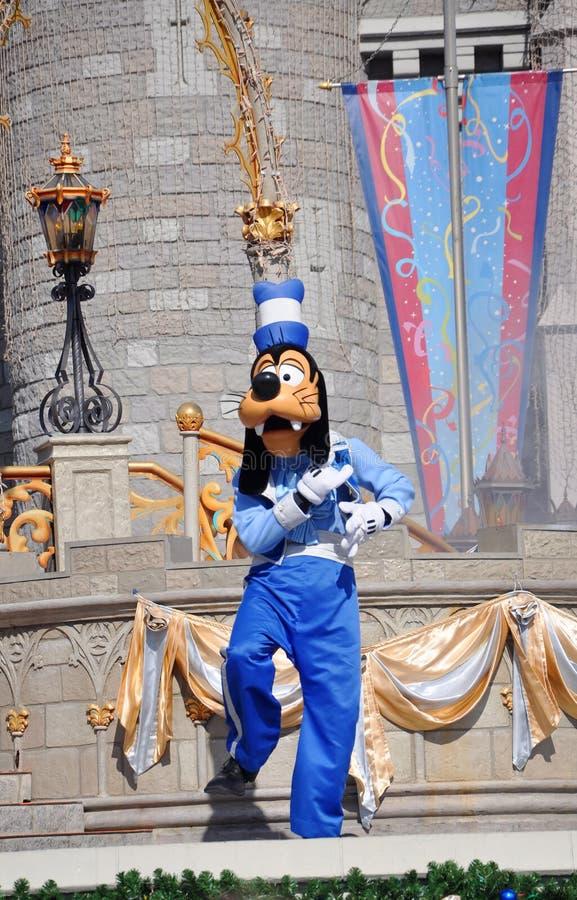 Goofy en monde de Disney photo libre de droits