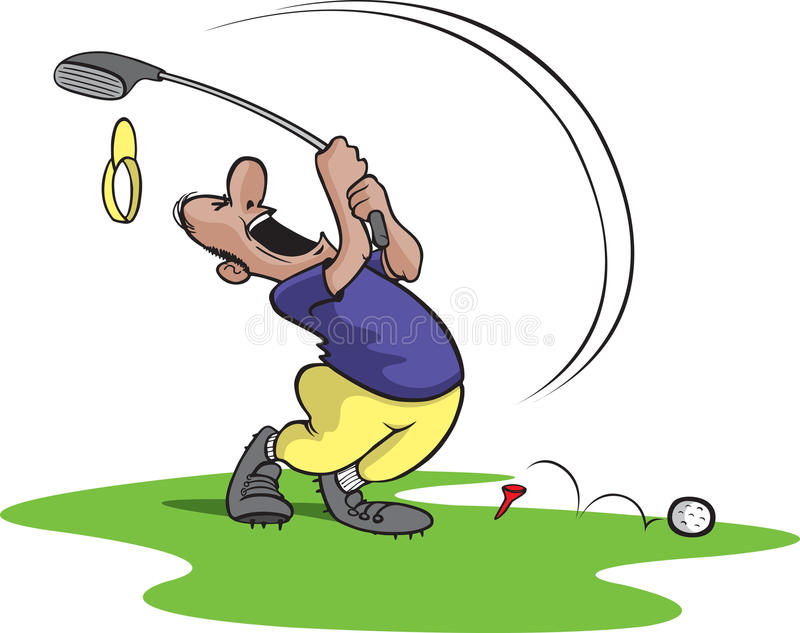 Goofy golfer 4 royalty free illustration