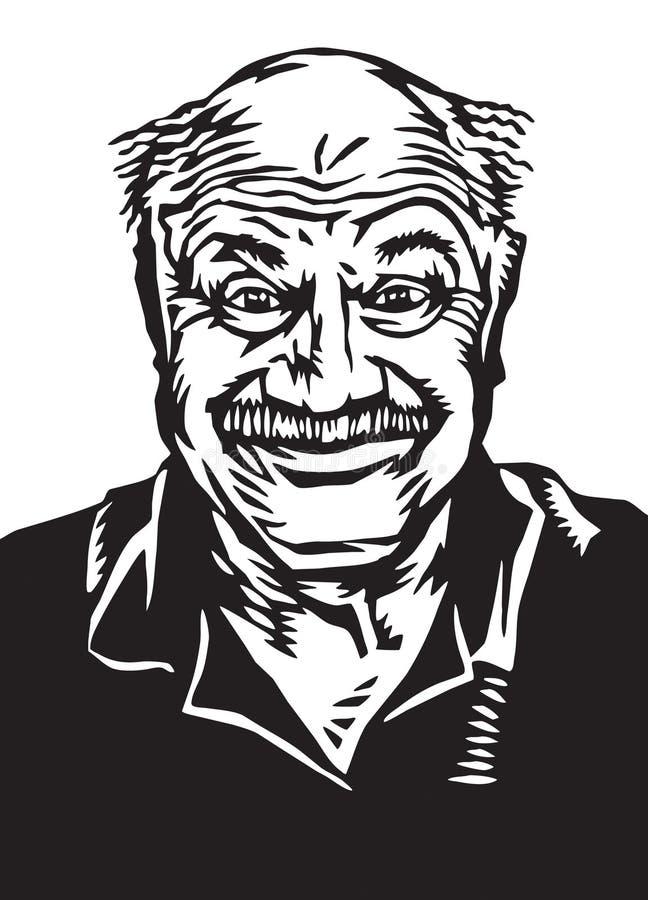 Goofy happy older guy stock images