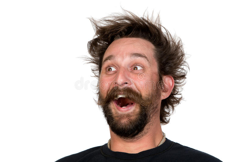 Hair Style Questions: Goofy Young Man Stock Photo. Image Of Cheerful, Face