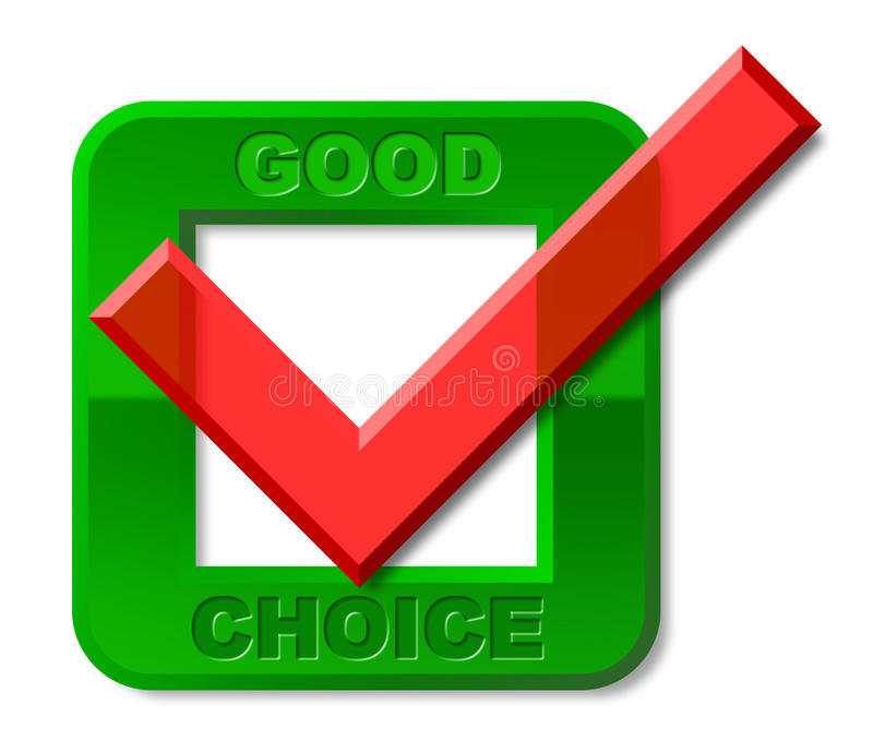 Goog Tick Shows First Rate And Choice ammirevole illustrazione vettoriale