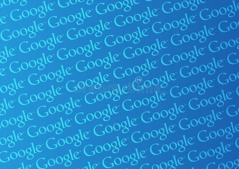 google徽标墙壁 皇族释放例证