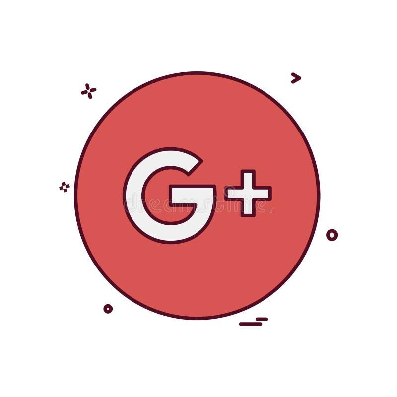 Google συν το διάνυσμα σχεδίου εικονιδίων ελεύθερη απεικόνιση δικαιώματος