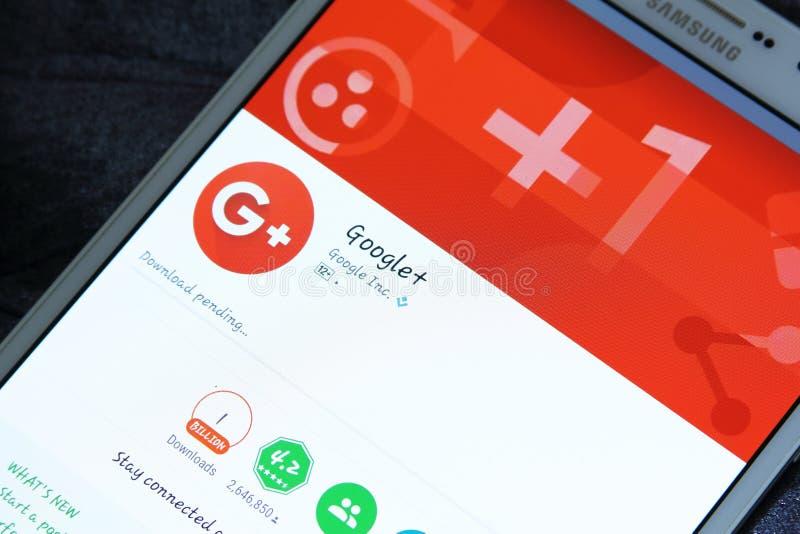 Google συν app στο παιχνίδι google στοκ εικόνες